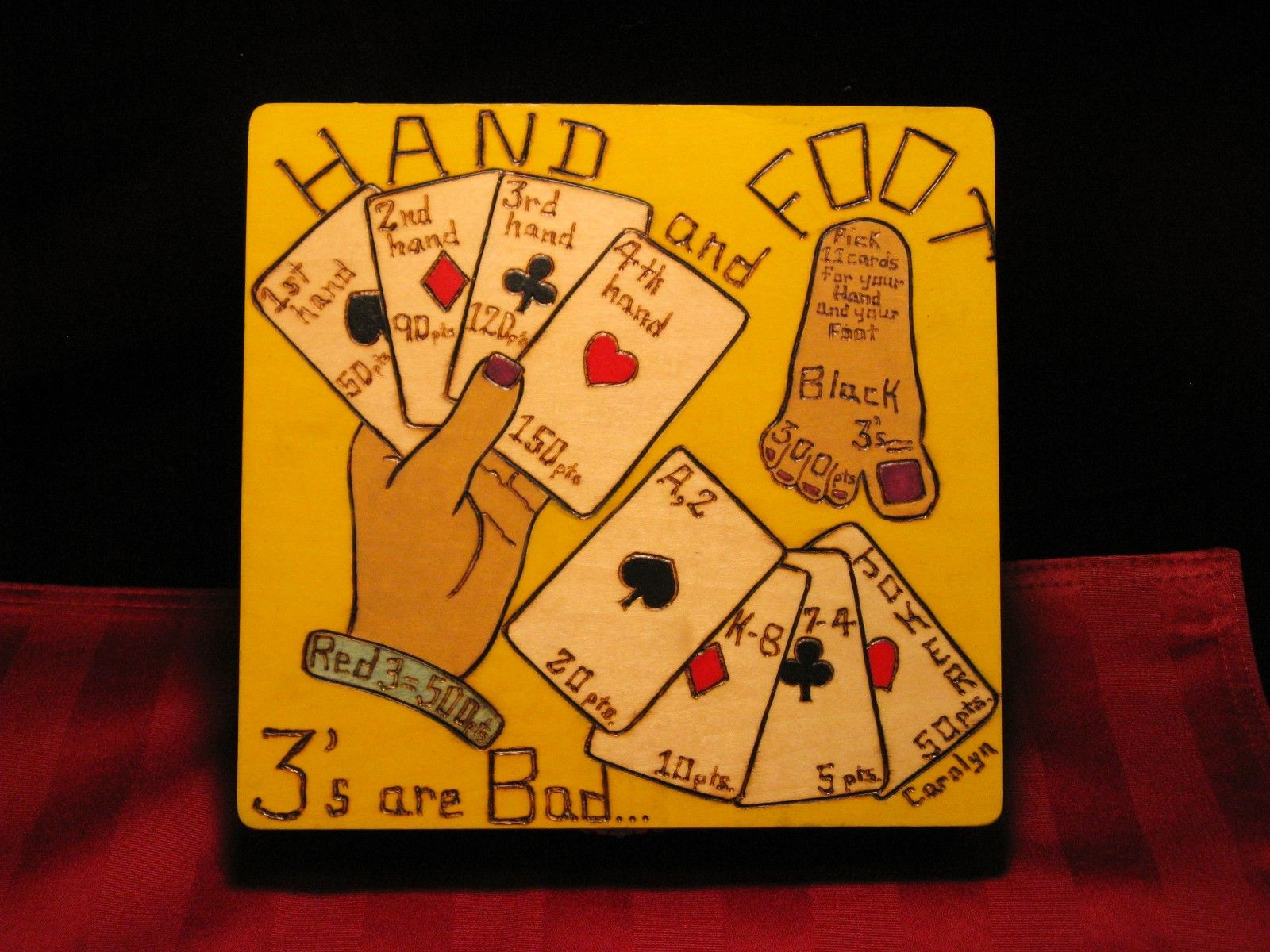 Card Game Box Hand and Foot BOX8x85001. 68.00, via