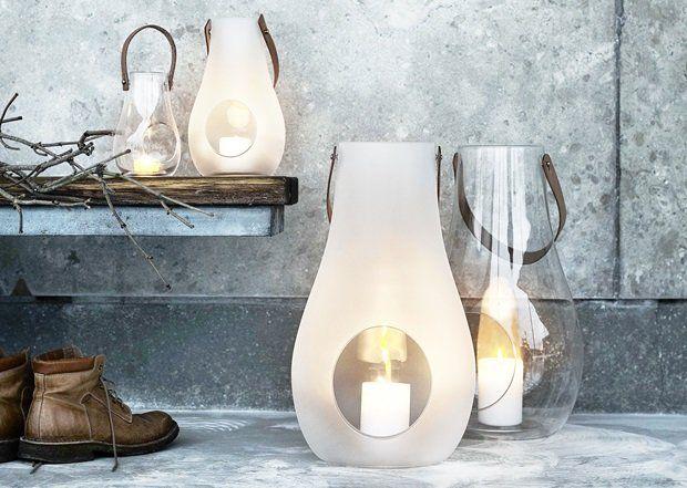 lindas luminária de vidro