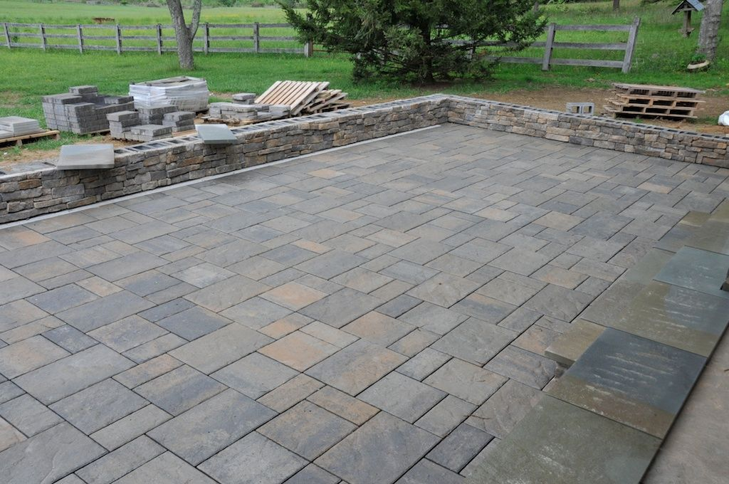 Patio Paver Designs | Cultured Stone And Pavers Complete On The Pergola  Patio Interior .