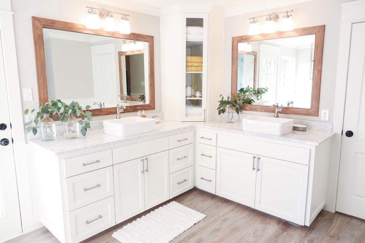 40 Double Sink Bathroom Vanities Fixer Upper Bathroom Corner Bathroom Vanity Joanna Gaines Bathroom