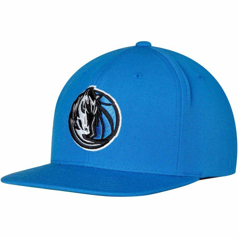 85fb1488d58d6 Men s Dallas Mavericks Mitchell   Ness Blue Team Logo Wool Solid Adjustable Snapback  Hat
