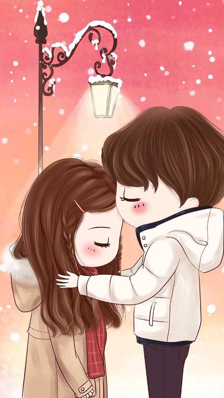 Love U Cute Love Wallpapers Cute Love Cartoons Cute Couple Cartoon
