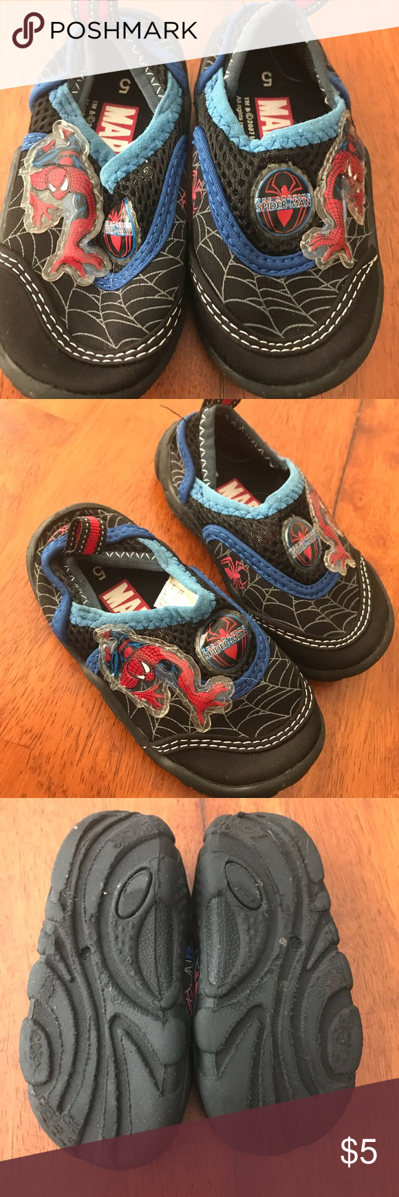 82ee293a5e8b Spider-Man Baby water shoes Baby size 5 water shoes featuring Spider-Man.