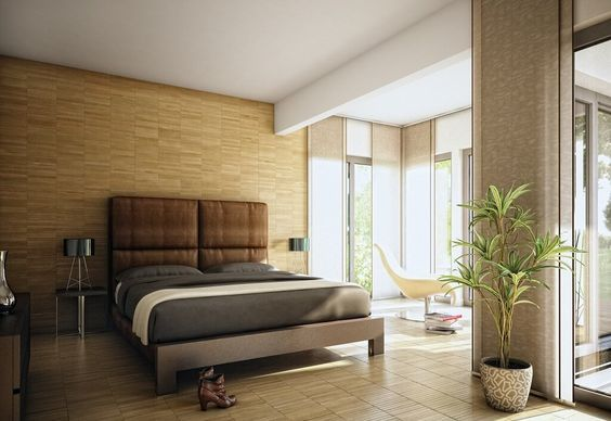 Schlafzimmer Wandgestaltung ~ Schlafzimmer wandgestaltung holz inneneinrichtung haus evolution