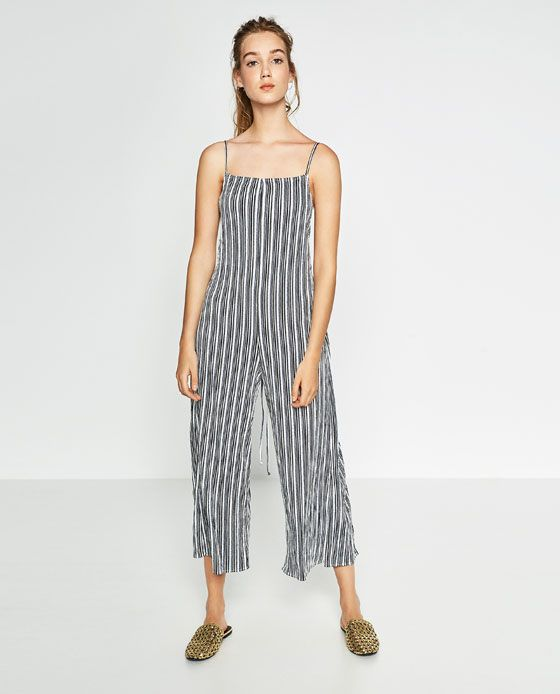 ZARA - WOMAN - STRIPED JUMPSUIT WITH BOW | TO BUY... | Pinterest ...