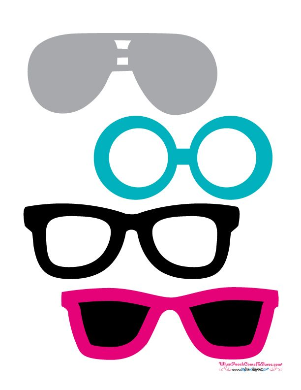free photo booth props sunglasses puppyshower dogbirthdayparty
