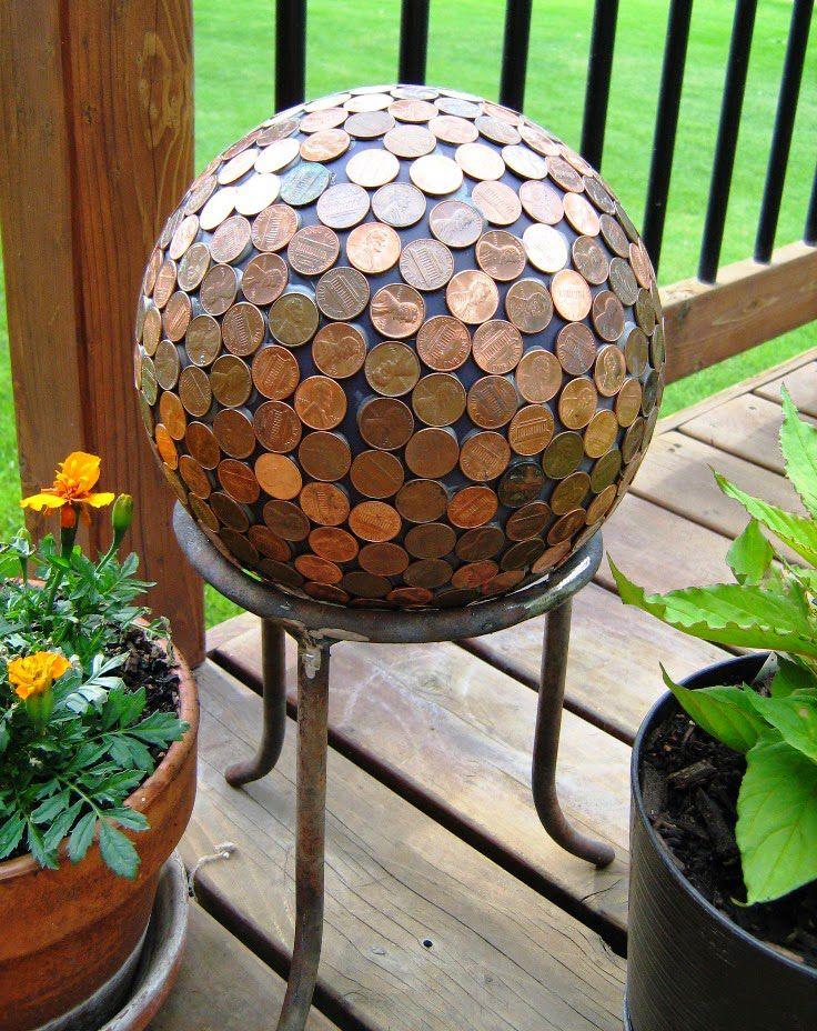 gartendekoration basteln mit münzen_interessante gartenideen mit ... - Gartendekoration Selber Basteln