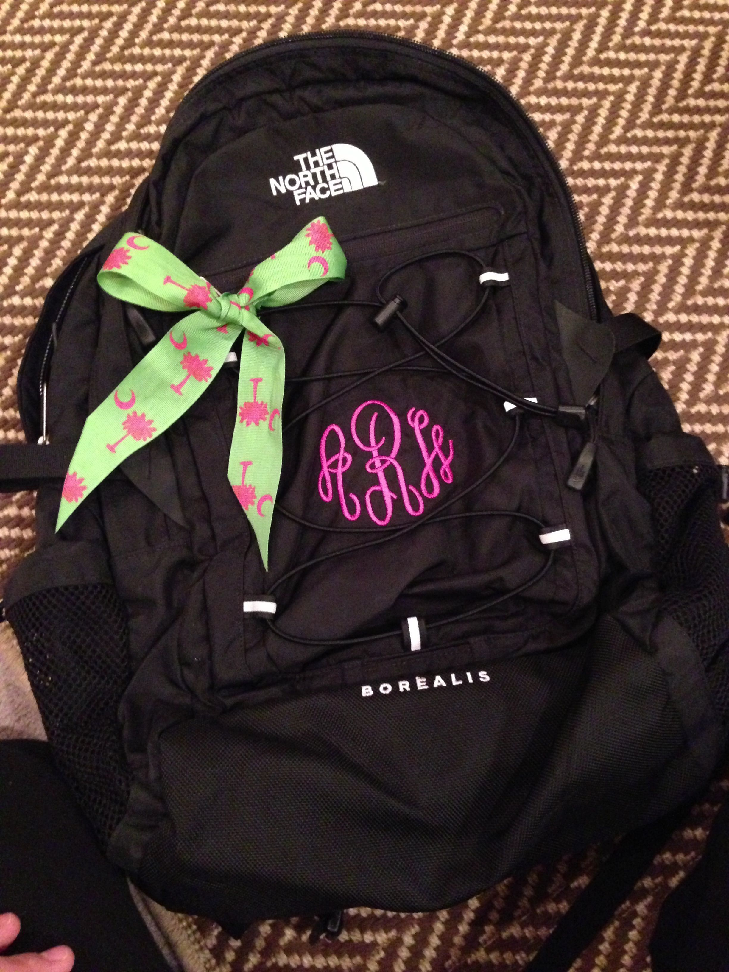 331adb89e12c Monogrammed north face backpack!