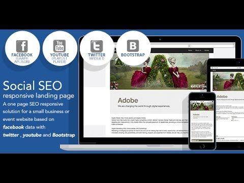 Social SEO responsive landing page based on facebook