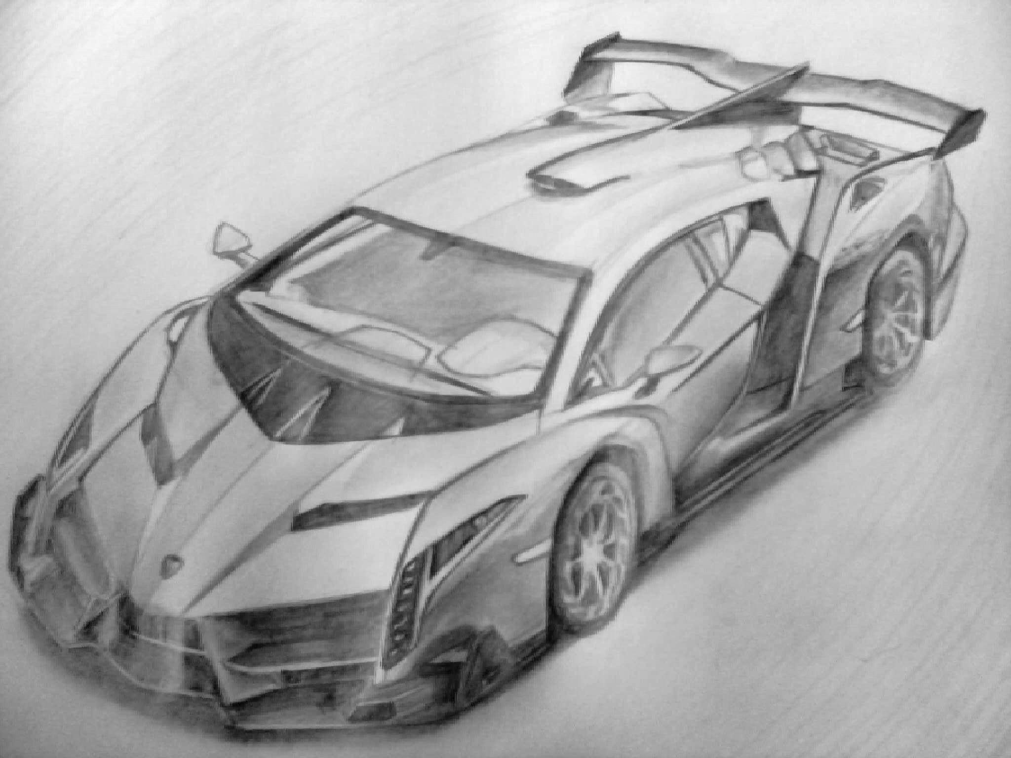lamborghini veneno sketch  car drawings cool car