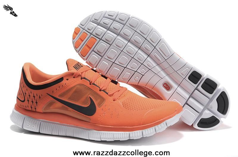 wholesale dealer cc1e1 b2baa Nike Free Run 3 510642-801 Womens Orange Black