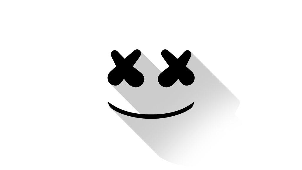 Marshmello Dj Material Design Logo Minimal Wallpaper
