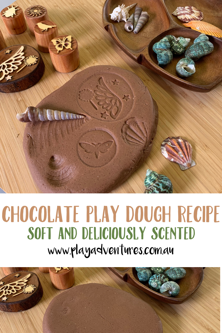 Amazing chocolate play dough is a delight to the senses