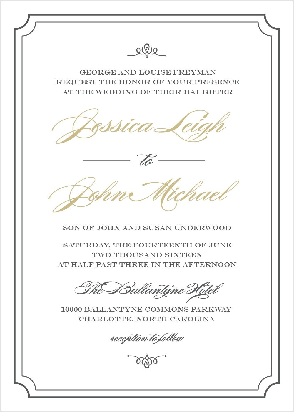 Elegant Script Wedding Invitations In 2019 Invitations