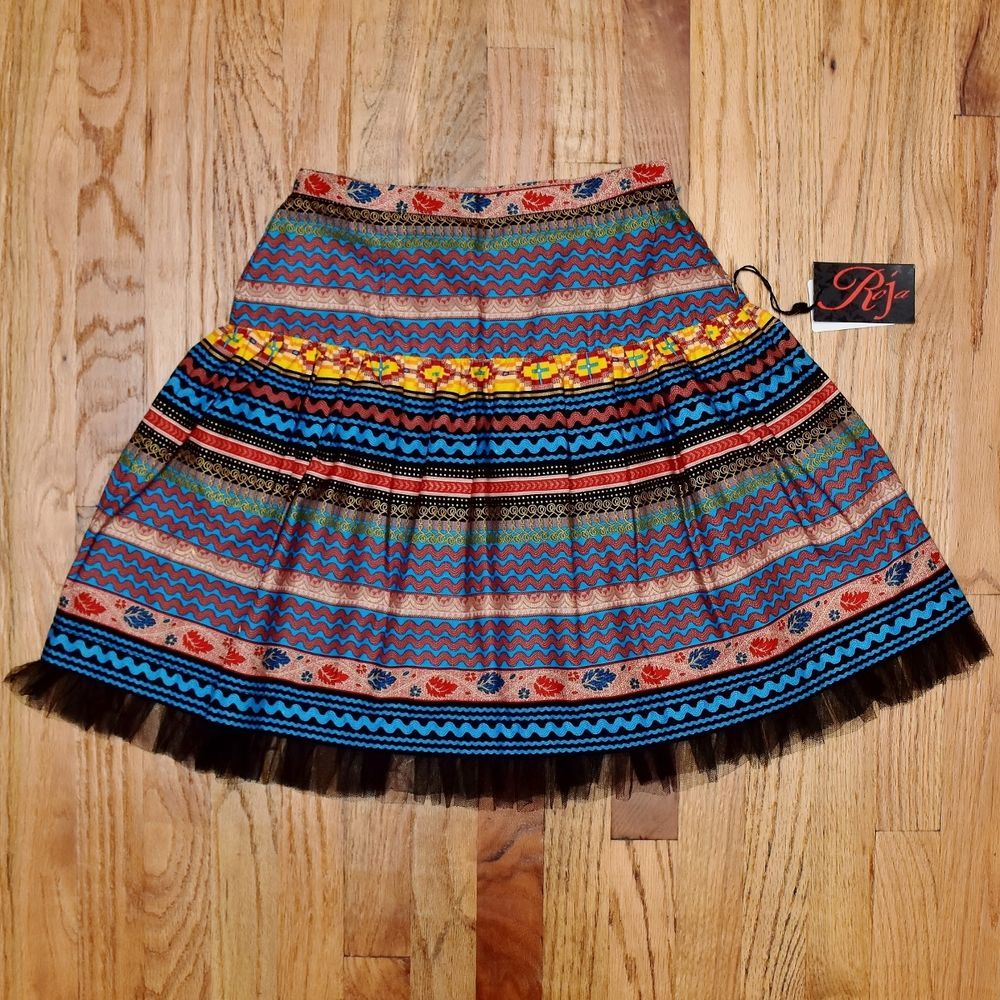 NWT Roja Colorful Tuling Geometric Skirt! Ret.$159 #fashion #style #ebay #love #deal #cute  http://ow.ly/BaJ0300HYFv
