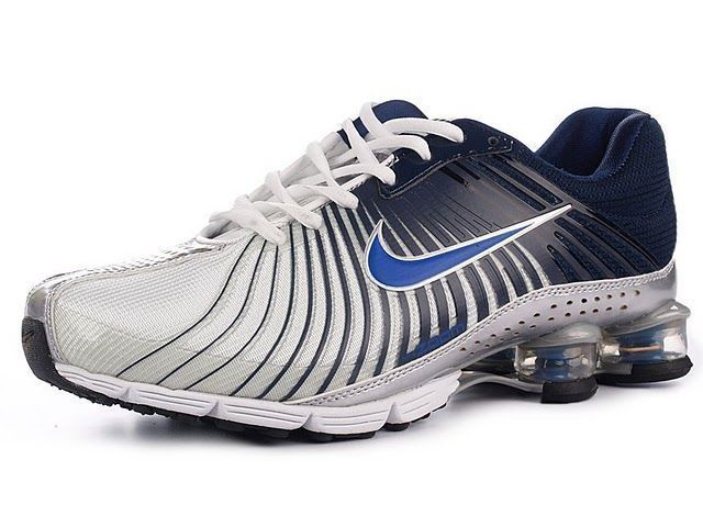 Chaussures Nike Shox R4 Blanc/ Noir/ Bleu [nike_12222] - €45.86 ...
