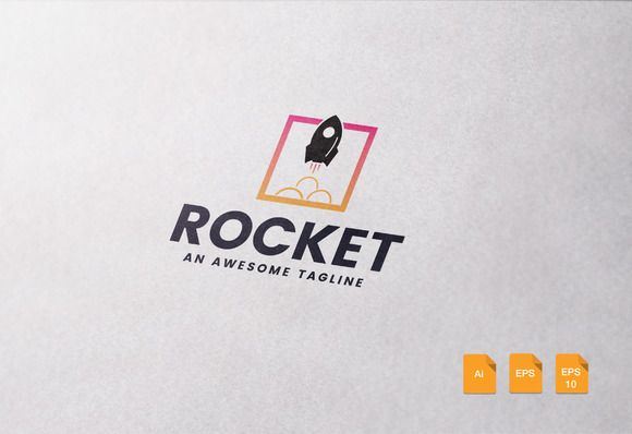 Rocket Logo Template by Spartacus on creativemarket