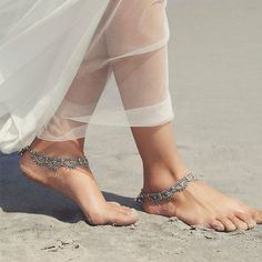 Photo of Look flawless from head-to-toe at your bohemian beach wedding with ankle dainty …