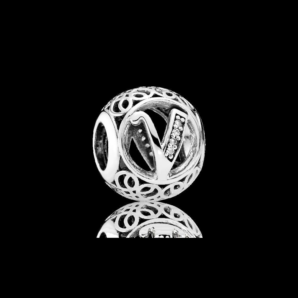 Pandora Vintage V Clear Cz Pandora Jewelry Silver Pandora Charms Pandora Jewelry Charms
