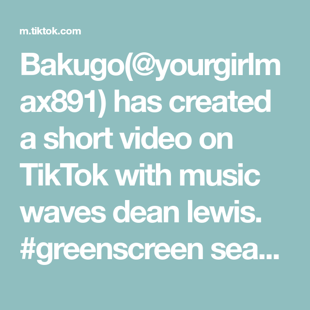 Bakugo Yourgirlmax891 Has Created A Short Video On Tiktok With Music Waves Dean Lewis Greenscreen Season Part 1 Haikyu K Music Waves Greenscreen Haikyu