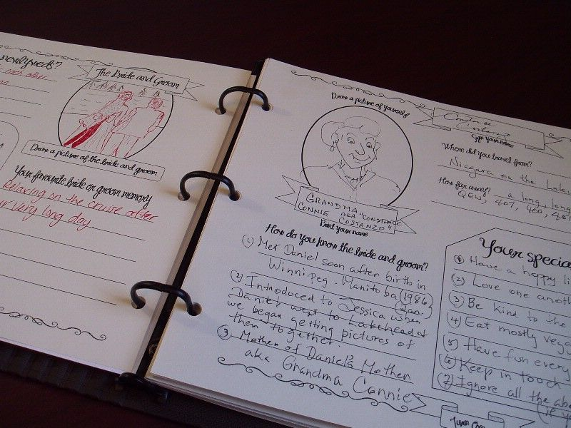 diy wedding guestbook in binder