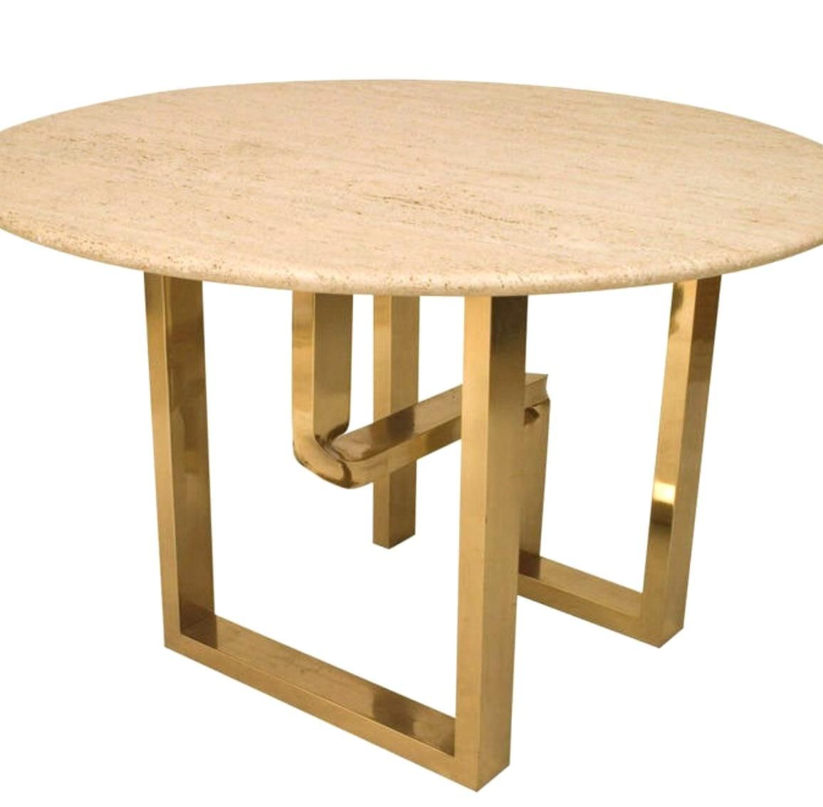 Height 305 Inches Depth 49 Inches American Center Table With A Geometric Twisted Brass Frame Base Supporting A Round T Center Table Table Modern Coffee Tables [ 1133 x 1156 Pixel ]