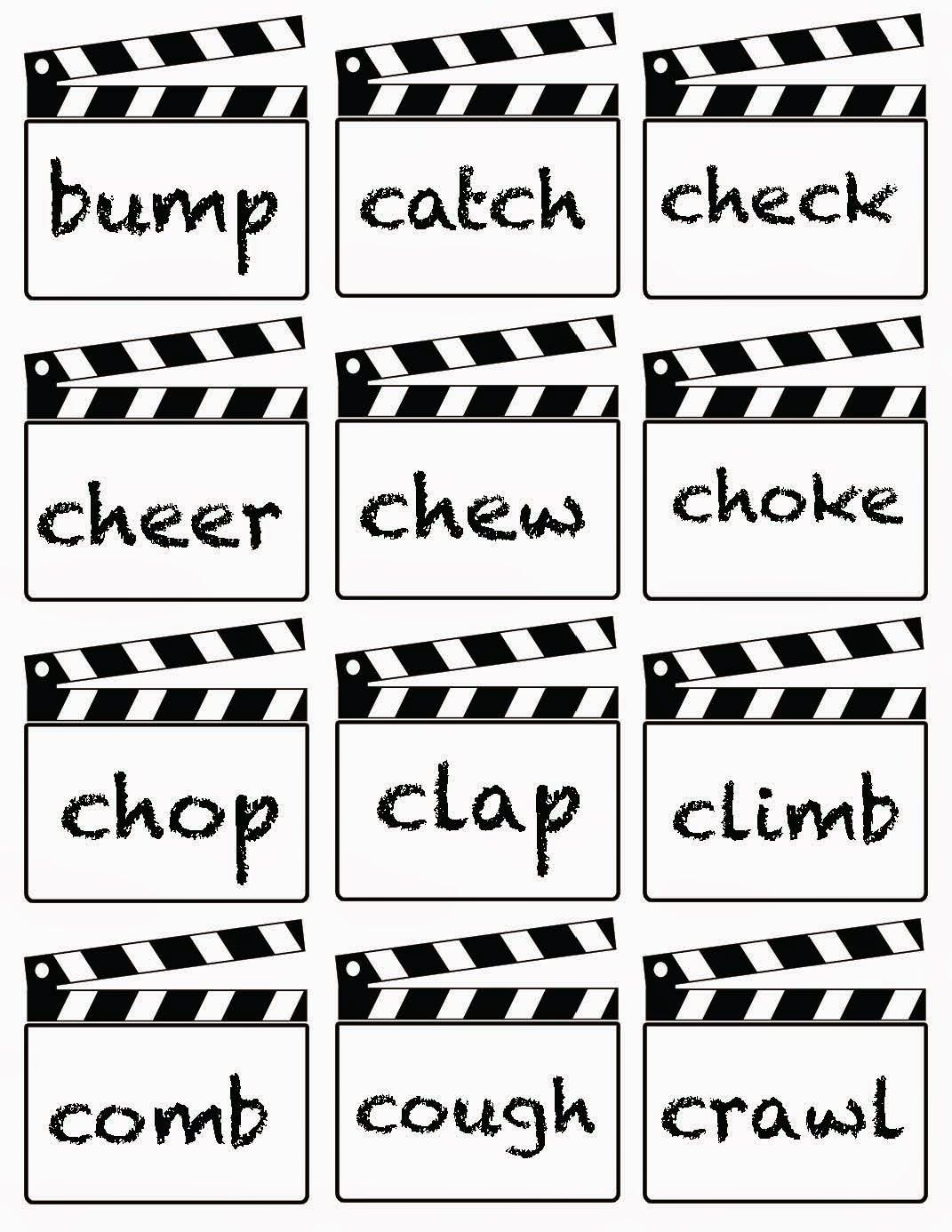 lights camera action verbs charades action verbs gopro and classroom bies lights camera action verbs charades