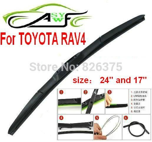Visit To Buy Free Shipping Car Windshield Wiper Blade For Toyota Rav4 Size 24 And 17 Car Wipers Blades Natural R Car Wiper Car Windshield Wipers Wiper Blades