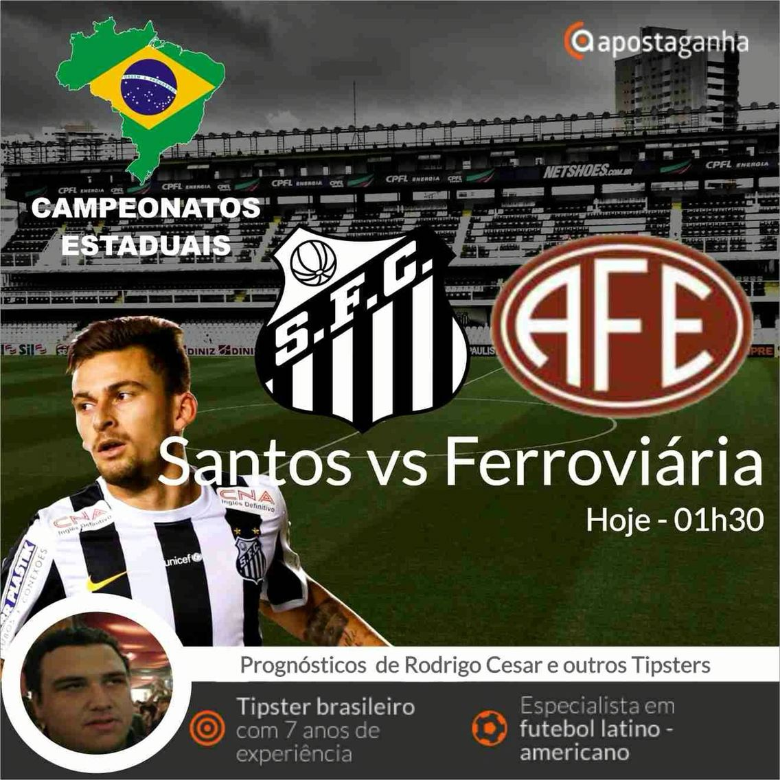 Confere o prognóstico do nosso especialista Rodrigo Cesar para o campeonato paulista...  http://www.apostaganha.com/2016/03/31/prognostico-apostas-santos-vs-ferroviaria-paulista-00091/  http://www.apostaganha.com/2016/03/29/prognostico-apostas-santos-vs-ferroviaria-paulista/  200 euros de bônus, cashout e um dos melhores live. Conheça a 10bet:  http://bit.ly/promo-10bet-AG  #apostas #apostaganha #apostasonline #futebol #paulista #peixe #santos #ferrinha #ferroviaria #brasil #bet #betting…