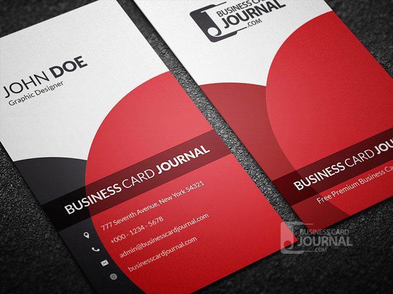 Pin by businesscardjournal on free business card templates classy elegant vertical business card template hello girls and guys have this new vertical black and red wonderful contact card for all kinds of flashek Image collections
