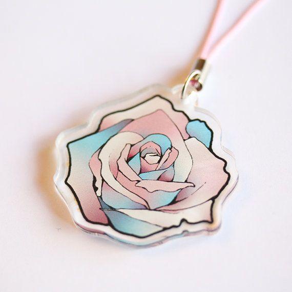 Trans flag rose