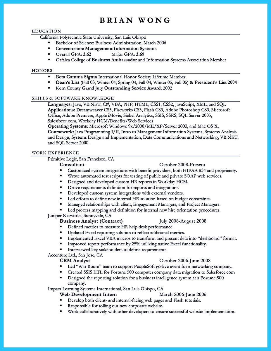 Appealing formula for wonderful business administration resume
