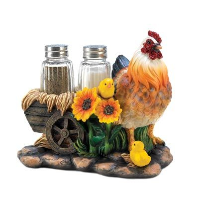 Chicken Wagon Shaker Set   Add Some Farm Fresh Whimsy To Your Dining Table!  A