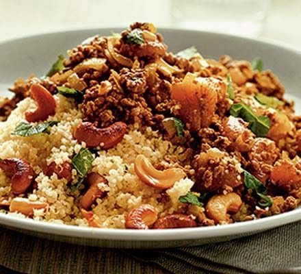 Moroccan spiced mince with couscous recipe the lebanese recipes kitchen the home of delicious lebanese recipes and middle eastern food recipes invites you to try mor forumfinder Image collections