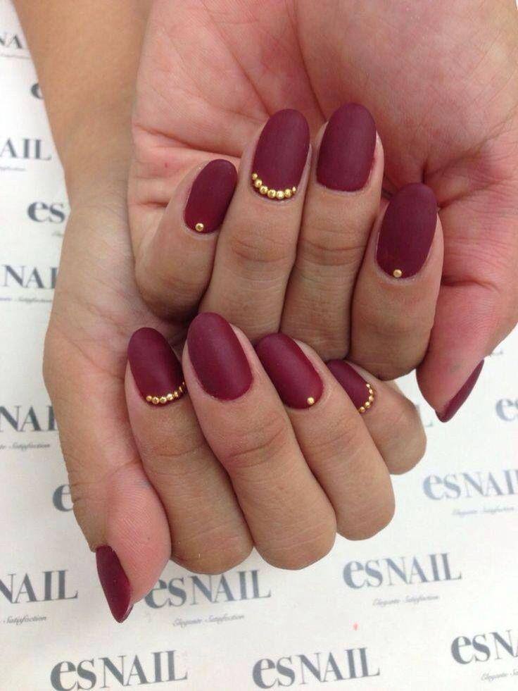 Gold studded nail art | Nails | Pinterest | Stud nails, Fabulous ...