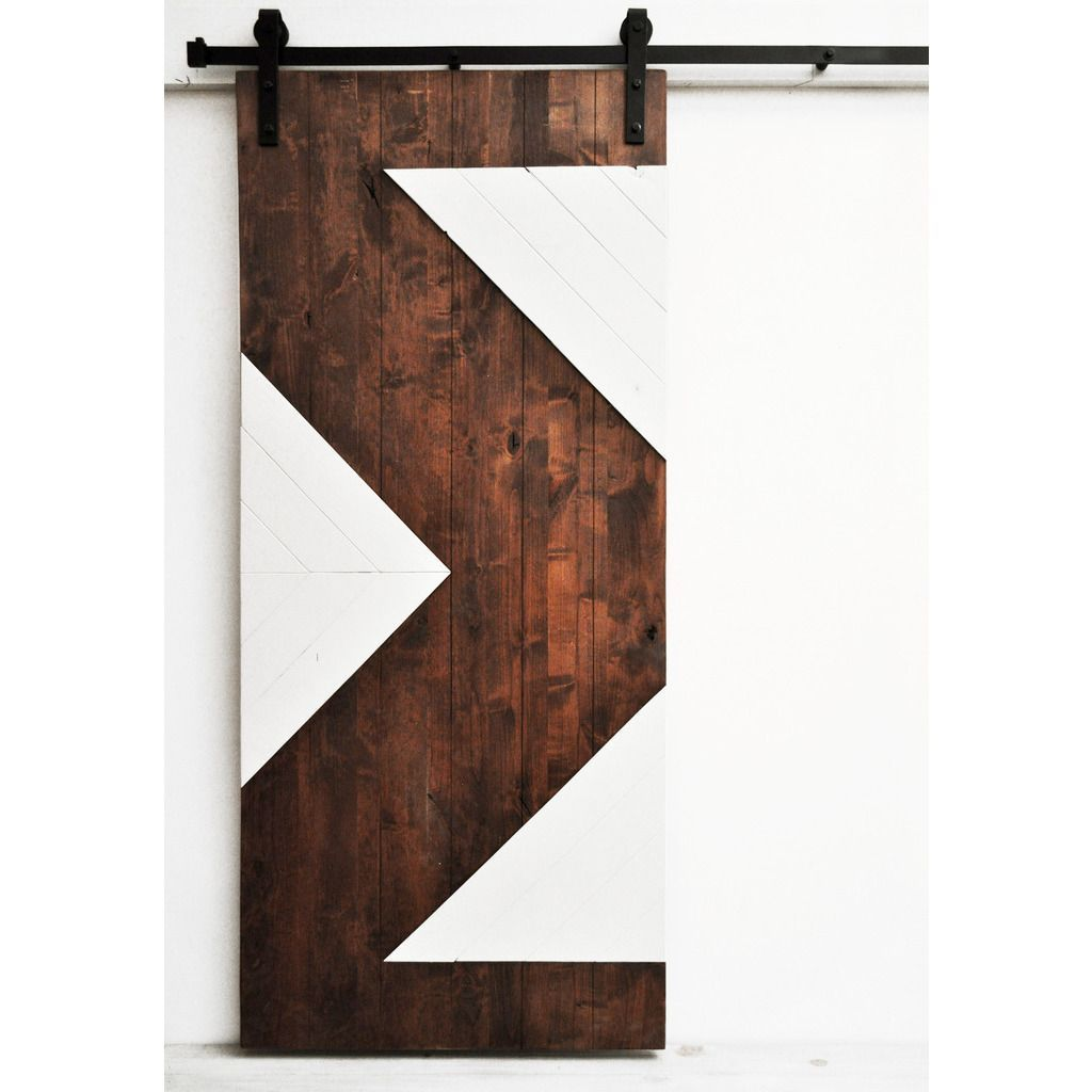 Dogberry zig zag x inch barn door with sliding hardware system