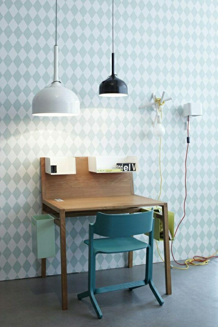 Schöne Tapeten Moderne Tapeten Ideen Design Tapeten In Blau ... Wohnzimmer Design Tapeten