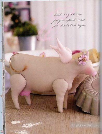 Тильда корова - выкройка мягких игрушек / Тильда, мягкие игрушки своими руками, выкройки / КлуКлу. Рукоделие - бисероплетение, квиллинг, вышивка крестом, вязание