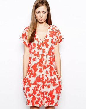 Whistles Jessica Dress in Blotted Floral Print