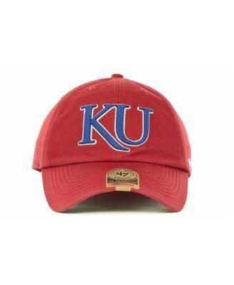 512fd74d8f1e1 47 Brand Kansas Jayhawks Franchise Cap - Red M