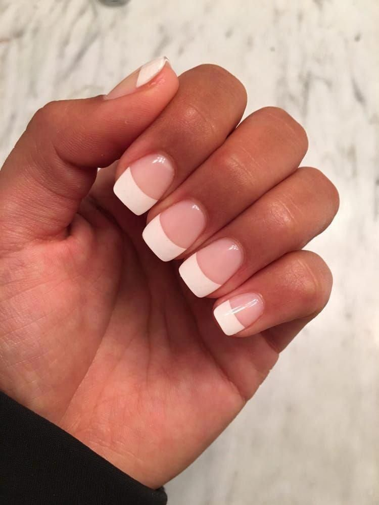 Nails Look At The Amazing Uncomplicated Pin Tip Reference 8910546748 Here Shortnailspink French Acrylic Nails French Tip Acrylic Nails Square Acrylic Nails