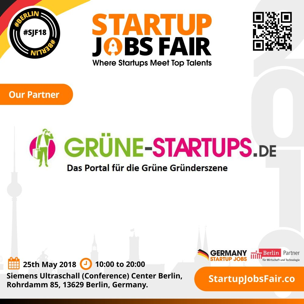 We\'re glad to announce our partnership with Grüne-Startups.de for ...