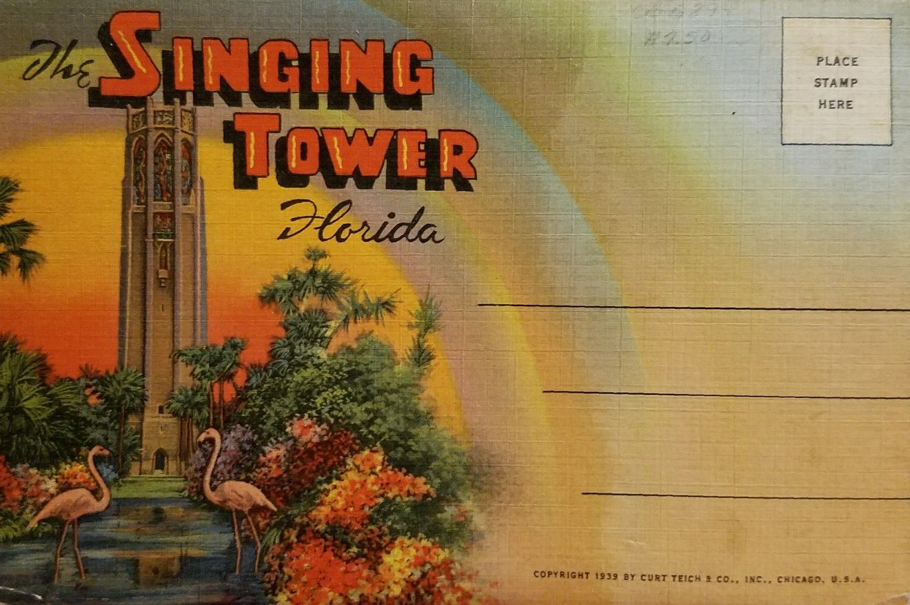 Cypress Gardens / Bok Tower Postcard Pack - 2   floridian ...