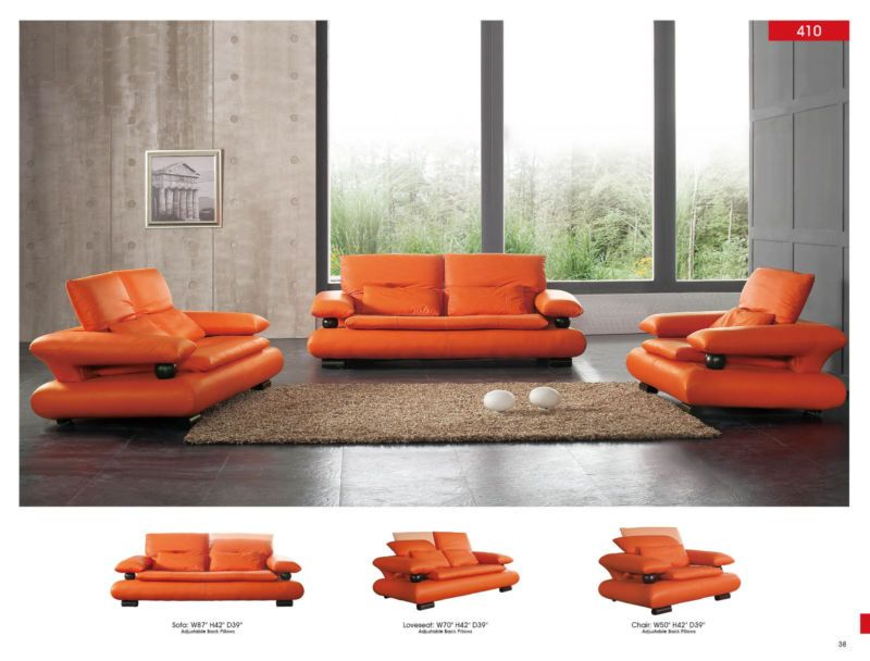 Chic Modern 410 Italian Leather Sofa Living Room Set Contemporary Ad