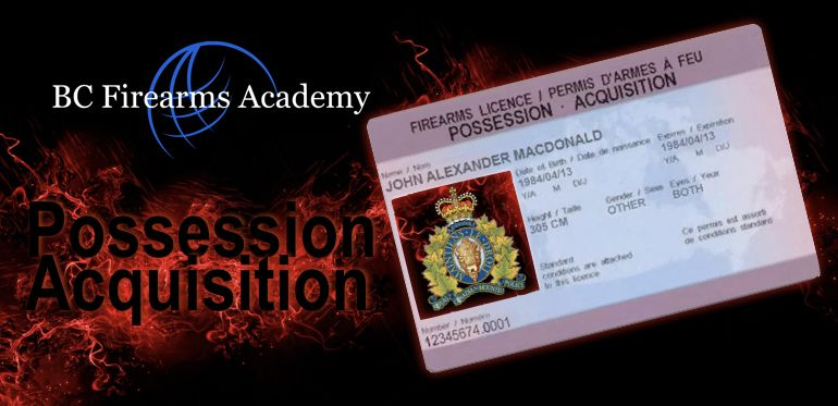 PAL Firearms Safety Courses for the Possession and