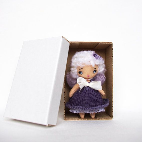Cloth doll Angel doll Purple lavender doll by KMMiniatureDolls ❤️