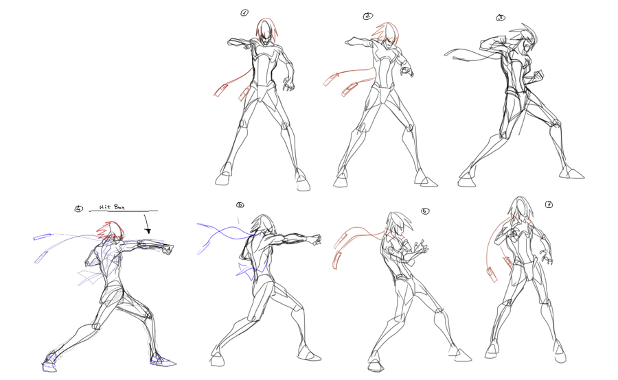 Medium Punch - Animation frames. by supermariotto.deviantart.com on ...