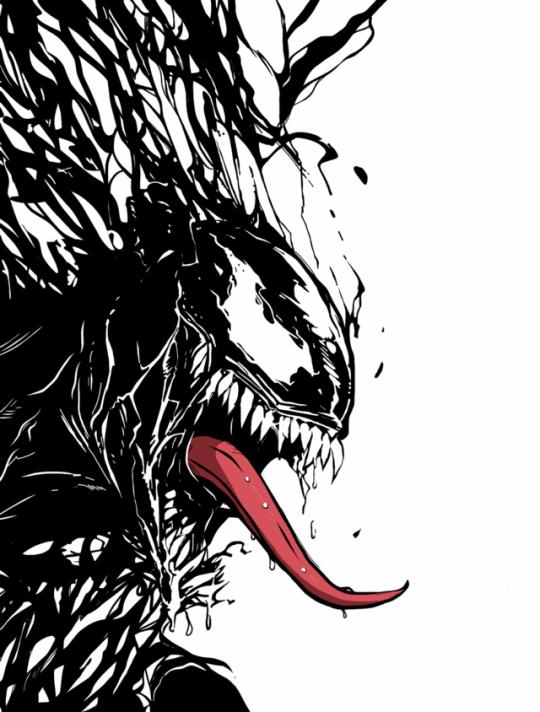 Venom The Sloppy Symbiote Art By Archan Basu Venom Comics Venom Art Venom Tattoo