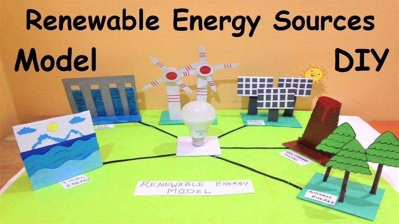 Renewable Energy Sources Model Science Project Diy Howtofunda Renewable Sources Of Energy Energy Science Projects Renewable Energy For Kids