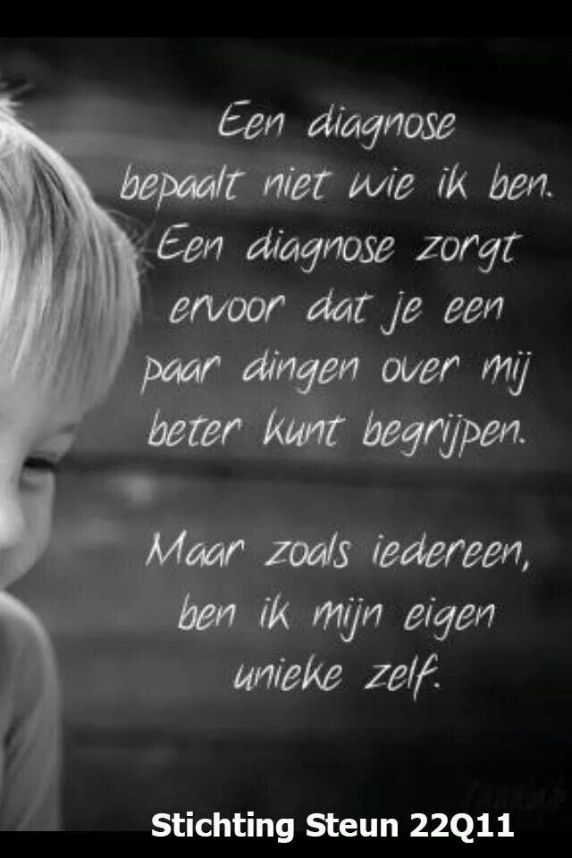 Citaten Over Begrip : Diagnose en begrip q deletie syndroom stichting